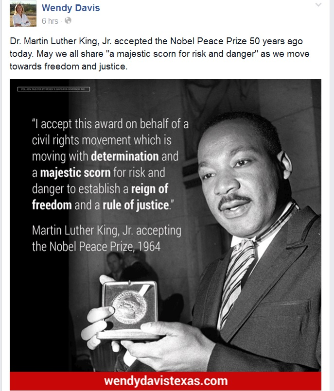 Dr King Quotes: Wendy Davis Quotes Martin Luther King In Abortion Barbie