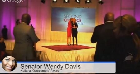 Wendy Davis Pat Smit Overcomers awards Jan 2014 2