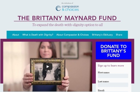 Compassion and Choices Brittany Maynard