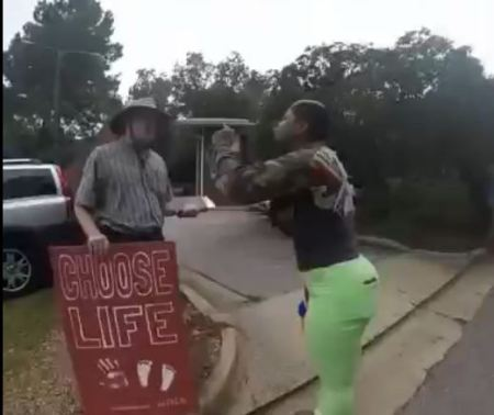 Water Gun abortion lady racist