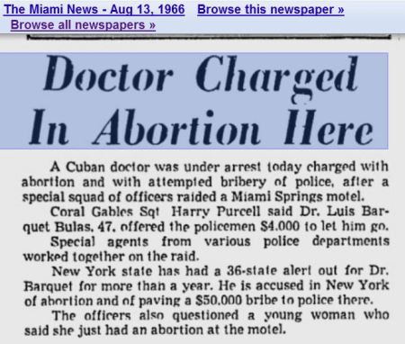 1966 Miami abortionists bribe