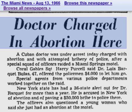 1966 Miami abortionists bribe