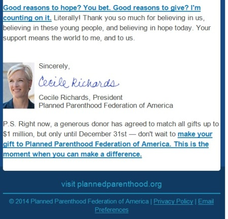 Good reasons to hope cecile richards PP