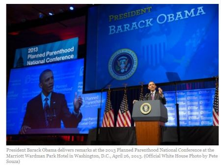 Obama speaks Planned Parenthood 2013