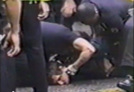 Police abuse prolife protester 12