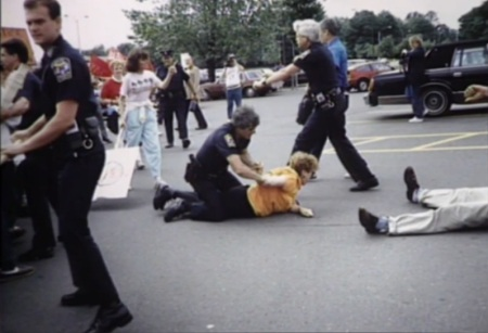 Police abuse prolife protester 13