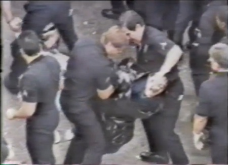 Police abuse prolife protester 6