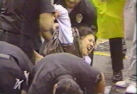 Police abuse prolife protester 7