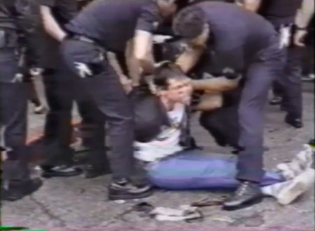 Police abuse prolife protester