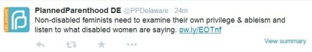 PP Tweet Disabled Women