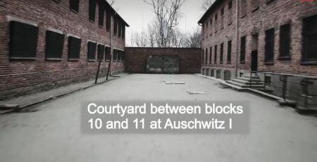 Auschwitz courtyard