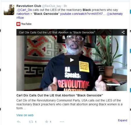 Carl Dix attacks abortion black genocide