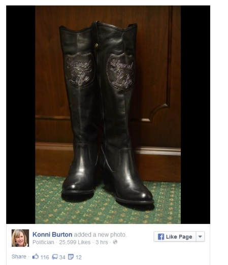 Konnie Burton Stand for Life Boots