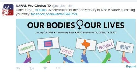 NARAY prochoice TX roe 2015