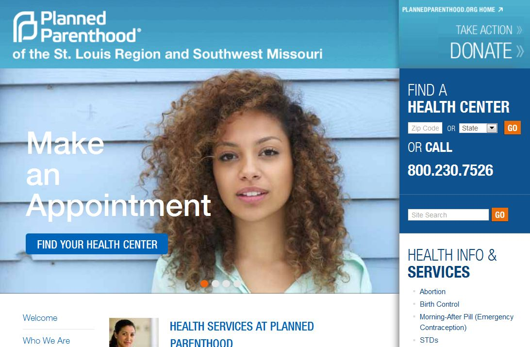 Planned parenthood website
