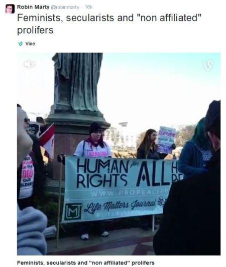 Robin Marty MFL tweet Feminists