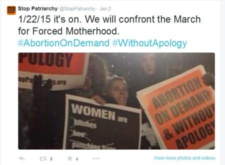 Stop Patriarchy confront MFL