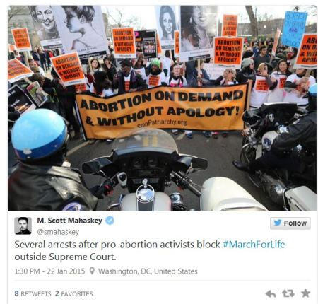 Stop Patriarchy March for Life arrests