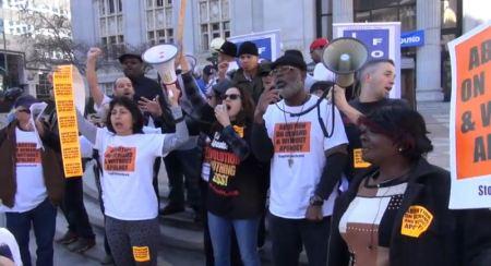 Sunsara Taylor Carl Dix Stop Patriarchy Oakland.