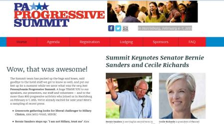Bernie Sanders Cecile Richards Progressive Summit