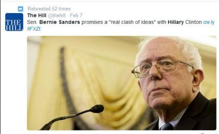 Bernie Sanders clash Hillary