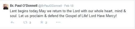 Br Paul Odonnell Tweet