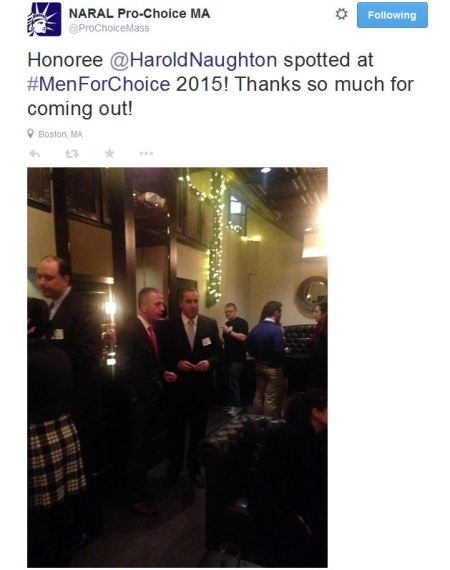 NARAL 2015 Men for choice Harold Naughton