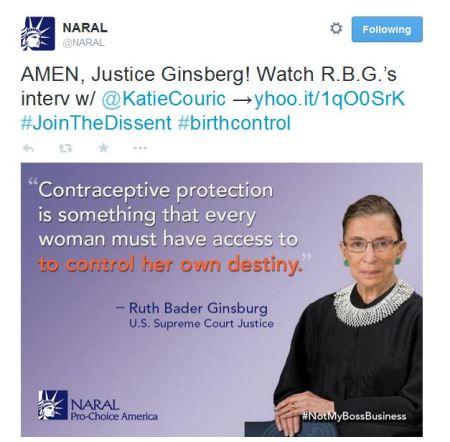 NARAL Ginsberg Tweet