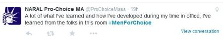 NARAL Men for Choice Tweet 2