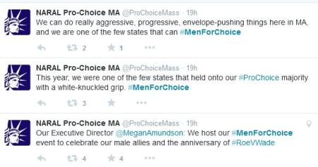 NARAL Men for Choice Tweet 3