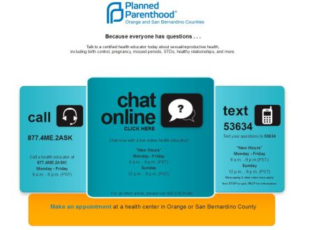 Planned Parenthood Sexting