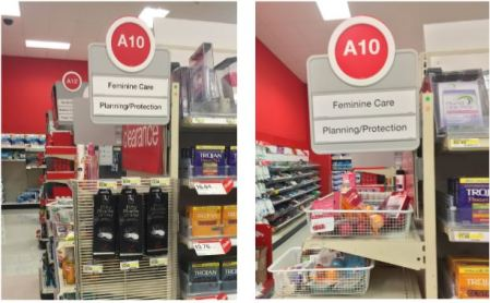 Prolife Waco Target 50 Shades of Grey Waco Display before and after