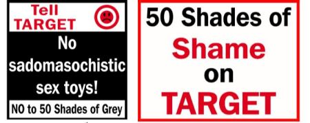 Prolife Waco Target 50 Shades of Grey
