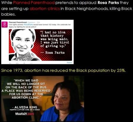 Rosa Parks 100 PP Alveda King Black