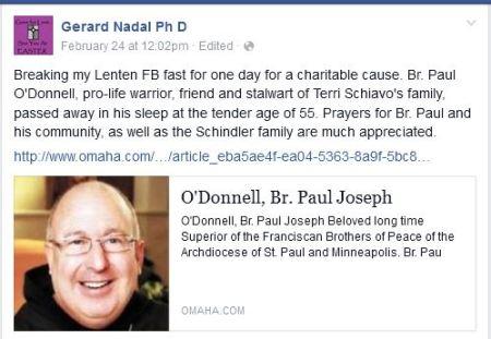 Tribute Gerad Paul ODonnell