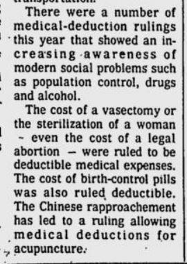 1974 IRS Abortion deduction