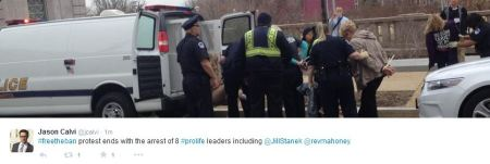 8 prolife leaders arrested