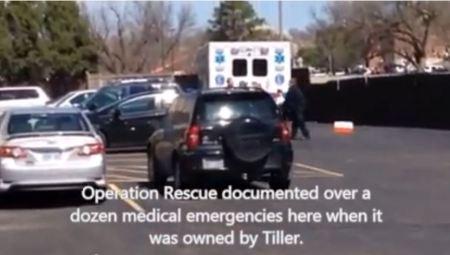 Ambulance at Wichita Abortion clinic March 20152