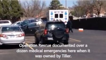Ambulance at Wichita Abortion clinic March 20152