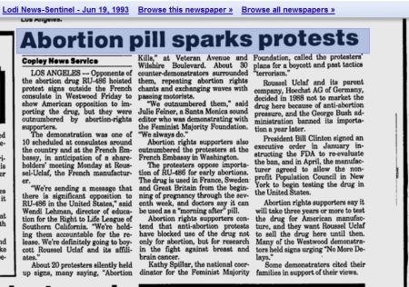 Bill Clinton RU486 abortion