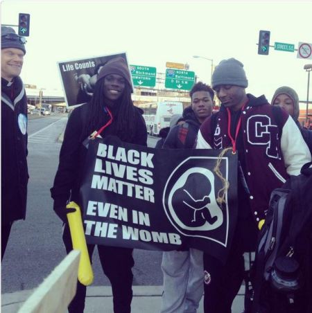 Black LIves Matter even in the womb MFL 2015