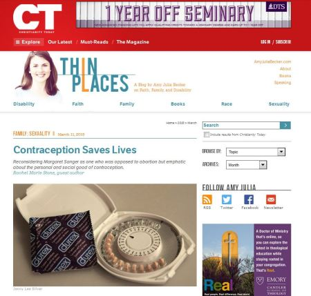 Christianity today praises Margaret Sanger