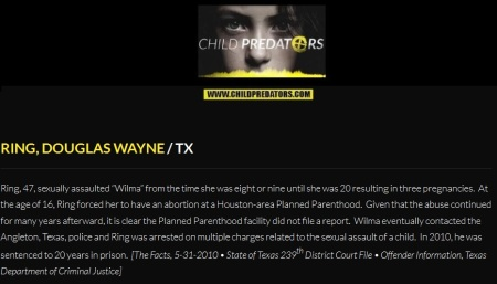 Douglas Wayne Ring sexual abuse Planned Parenthood TX