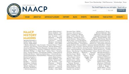 Elaine Riddick NAACP History Maker 2015