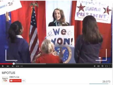 EMilys LIst Madam President campaign