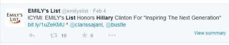 Hillary CLinton EMilys List Next Generation