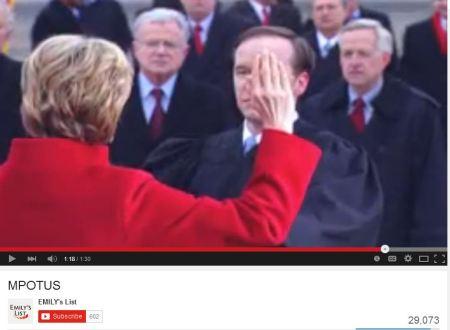 Hillary CLinton Madam President EMilys LIst abortion vid