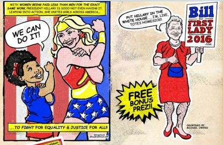 Hillary for 2016 Bill Dress comic