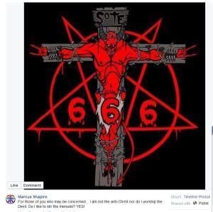 Marcus Shapiro FB Satan