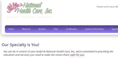 National Health Care Inc Abortion clinic